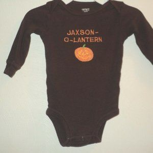 Halloween Jaxson-O-Lantern Boy's One-Piece 6 Month